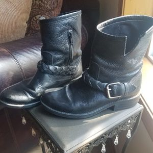 "Steve Madden ""Flair"" Leather Moto Boots"
